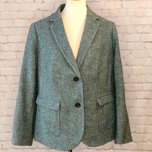 Talbots blazer lined green heather size 14WP